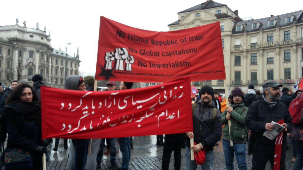 مونیخ، 17 فوریه 2018، دقایقی پیش از شروع راهپیمایی